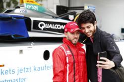 Nick Heidfeld, Mahindra Racing au cours d'un événement dans la ville de Berlin