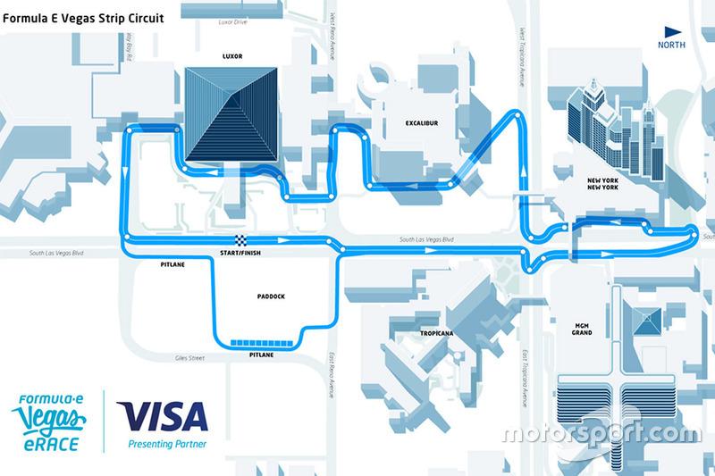 Así es la pista de la carrera virtual de Las Vegas