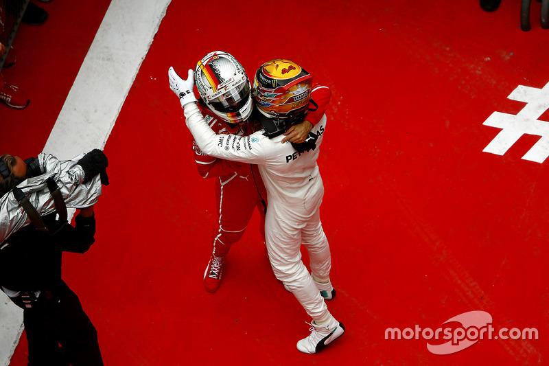 Гран Прі Китаю. Льюіс Хемілтон, Mercedes AMG, Себастьян Феттель, Ferrari