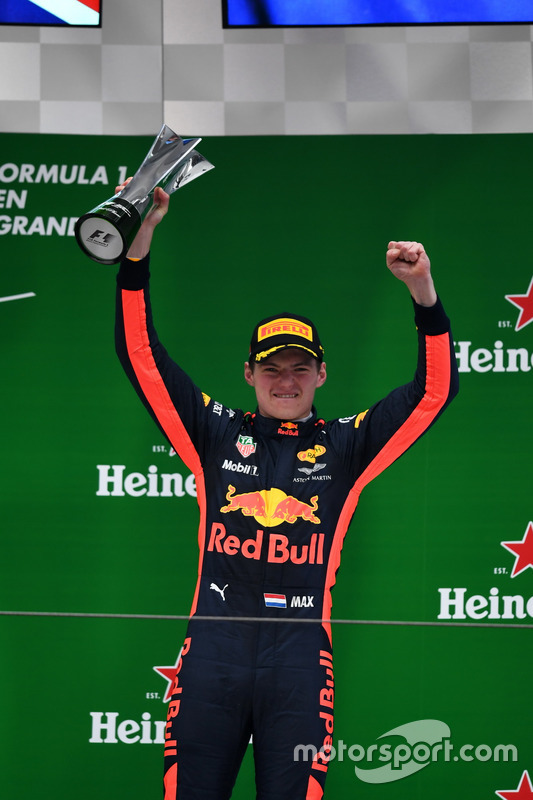 Podium: Max Verstappen, Red Bull Racing