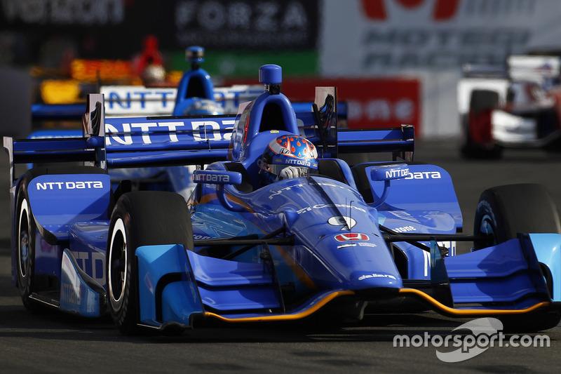 Scott Dixon, Chip Ganassi Racing, Honda; Tony Kanaan, Chip Ganassi Racing, Honda
