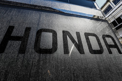 Honda logo on the McLaren transporters