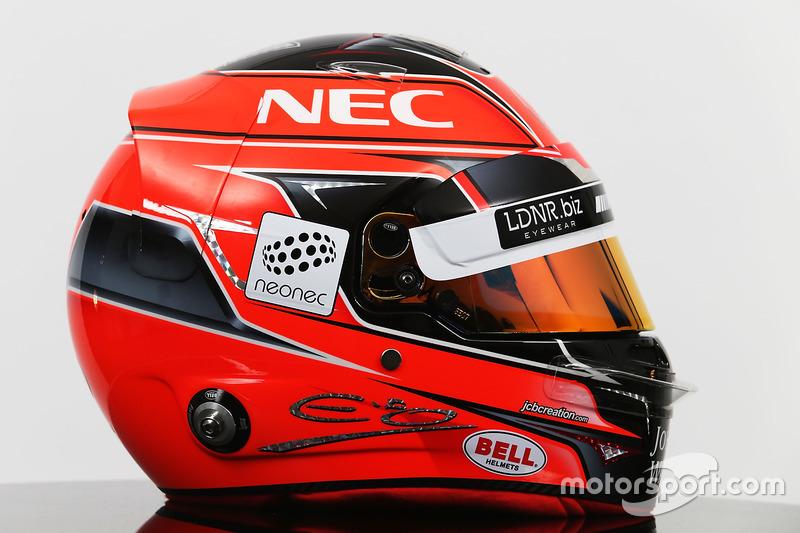 De helm van Esteban Ocon, Sahara Force India F1 Team