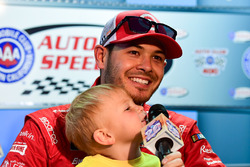 Kyle Larson, Chip Ganassi Racing, with his son Owen
