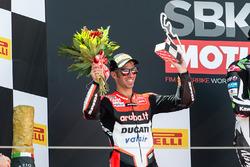 Podium : le deuxième, Marco Melandri, Ducati Team