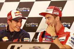 Marc Márquez, Repsol Honda Team y Andrea Iannone, Ducati Team