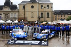 #78 KCMG Porsche 911 RSR: Christian Ried, Wolf Henzler, Joel Camathias and #47 KCMG Oreca 05 Nissan: Tsugio Matsuda, Matt Howson, Richard Bradley