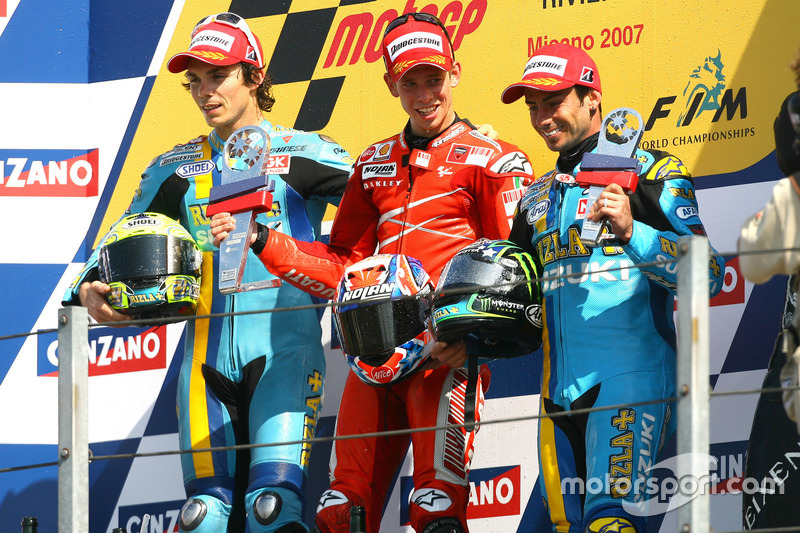 Podium: Winner Casey Stoner, Ducati; second place Chris Vermeulen, Suzuki; third place John Hopkins,