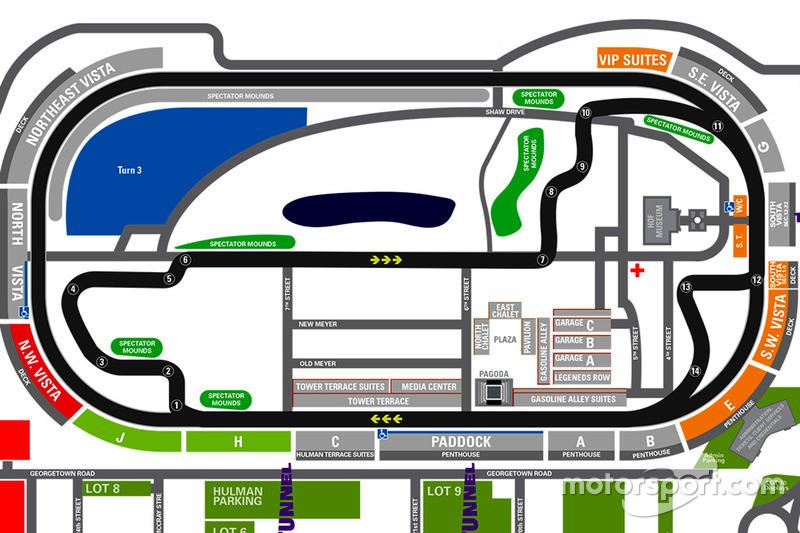 Karte: Indianapolis Motor Speedway