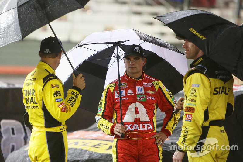 Matt Kenseth, Joe Gibbs Racing Toyota, Jeff Gordon, Hendrick Motorsports Chevrolet, Carl Edwards, Joe Gibbs Racing Toyota