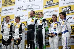 Podium: Sieger #50 YACO Racing, Audi R8 LMS: Philip Geipel, Rahel Frey; 2 #5 HB Racing Lamborghini H