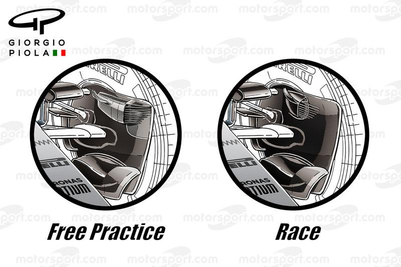 Mercedes brake ducts, Singapore GP