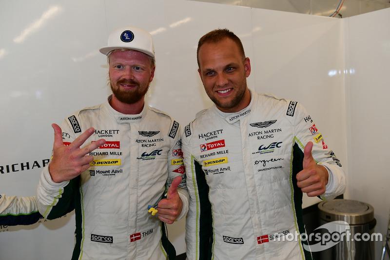 LM GTE Pro polesitters #95 Aston Martin Racing Aston Martin Vantage GTE: Marco Sorensen, Nicki Thiim