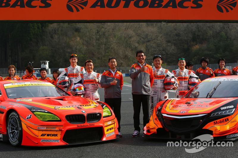 #8 Autobacs Racing Team Aguri Honda NSX Concept GT: Kosuke Matsuura, Tomoki Nojiri and #55 Autobacs Racing Team Aguri BMW M6 GT3: Shinichi Takagi, Takashi Kobayashi