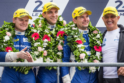 LMP2 podium: third place #37 SMP Racing BR01 Nissan: Vitaly Petrov, Viktor Shaytar, Kirill Ladygin with team owner Boris Rotenberg