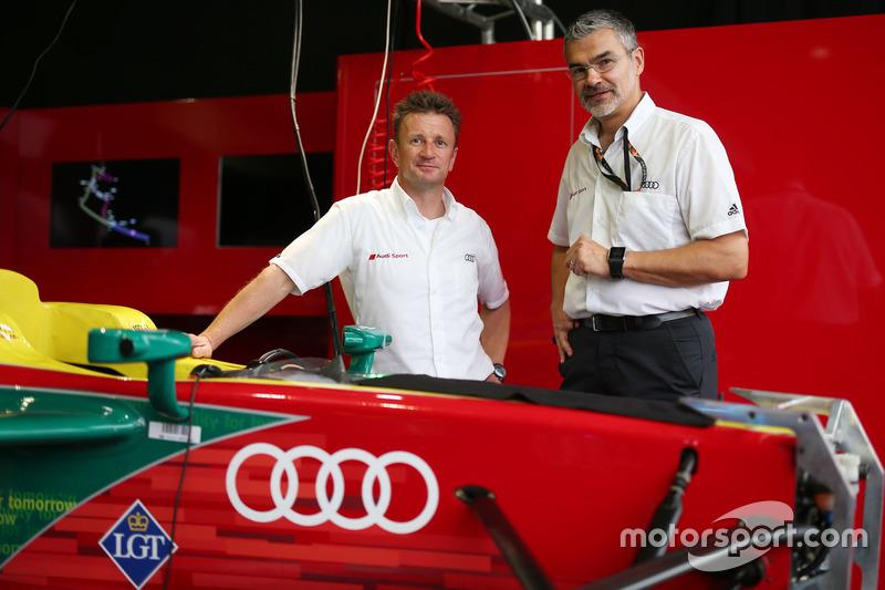 Allan McNish and Dieter Gass, Audi Sport