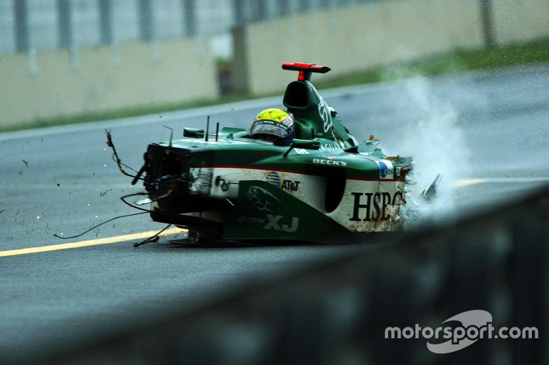 Choque de Mark Webber, Jaguar