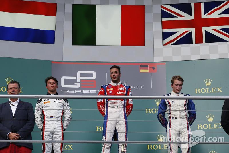 Antonio Fuoco, Trident; Nyck De Vries, ART Grand Prix Matthew Parry, Koiranen GP