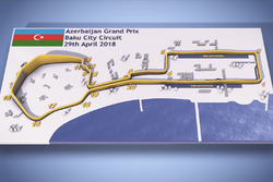 Azerbaijan GP circuit map