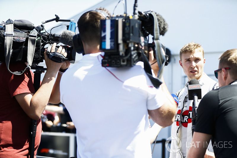 Sergey Sirotkin, Williams Racing, is interviewed