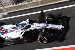 Oliver Rowland, Williams FW41 with aero sensors