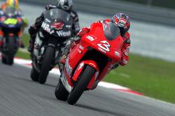 Max Biaggi, Yamaha; Alex Barros, Honda
