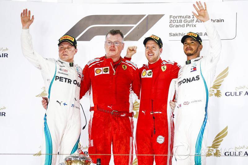 Valtteri Bottas, Mercedes AMG F1, Sebastian Vettel, Ferrari,Lewis Hamilton, Mercedes AMG F1