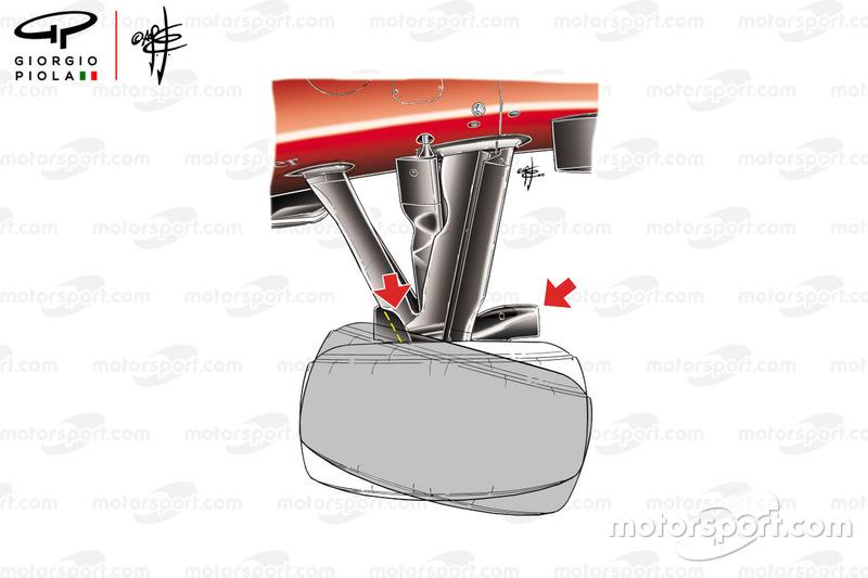 Angle de braquage des roues avant, Ferrari F10, GP de Monaco