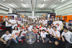 Worldchampion Marc Marquez, Repsol Honda Team, Dani Pedrosa, Repsol Honda Team with the team