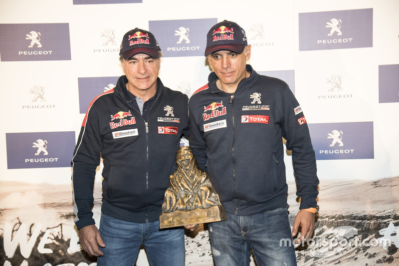 Dakar: Carlos Sainz y Lukas Cruz, Peugeot Sport