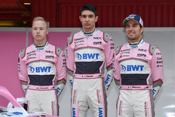 Nikita Mazepin, Sahara Force India F1, Esteban Ocon, Sahara Force India F1 y Sergio Perez, Sahara Force India