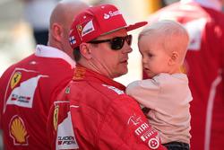 Kimi Raikkonen, Ferrari avec son fils Robin