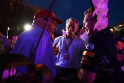 Chase Carey, Chief Executive Officer and Executive Chairman of the Formula One Group, Niki Lauda, Mercedes AMG F1 Non-Executive Chairman and Christian Horner, Red Bull Racing Team Principal at Petronas BBQ
