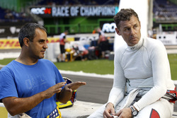 Juan Pablo Montoya and Tom Kristensen