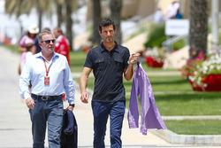 Martin Brundle, comentarista, Sky deportes F1, con Mark Webber, Pundit, canal 4 F1