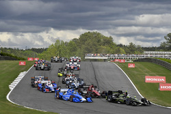 Джозеф Ньюгарден, Team Penske Chevrolet, Тони Канаан, Chip Ganassi Racing Honda, Михаил Алешин, Schmidt Peterson Motorsports Honda