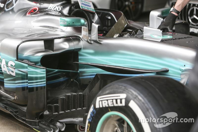 Новые аэродинамические элементы Mercedes AMG F1 W08