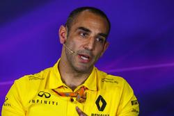 Cyril Abiteboul, Renault Sport F1 Director General en la Conferencia de prensa