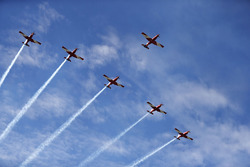 Pilatus PC-9C's von der RAAF Aerobatic Showteam
