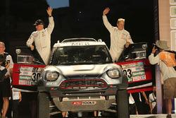 #303 X-Raid Team Mini: Mikko Hirvonen, Michel Périn at the finish