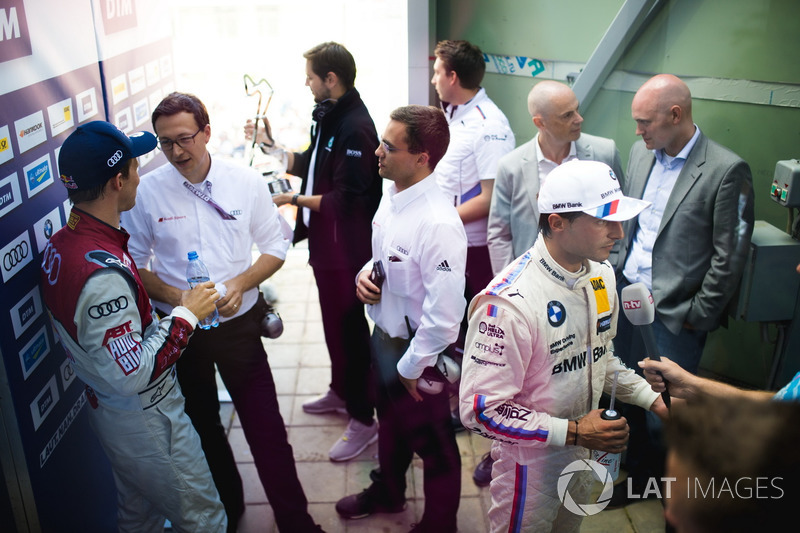 Mattias Ekström, Audi Sport Team Abt Sportsline, Audi A5 DTM and Bruno Spengler, BMW Team RBM, BMW M4 DTM