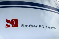 Sauber C36 signage in the paddock