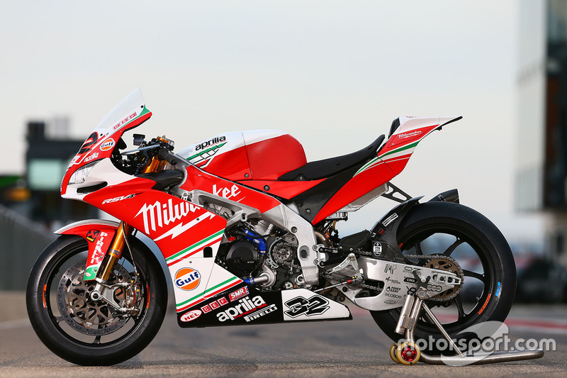 Bike von Julian Simon, Milwaukee Aprilia World Superbike Team