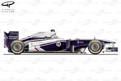 Williams FW33 side view, Abu Dhabi GP