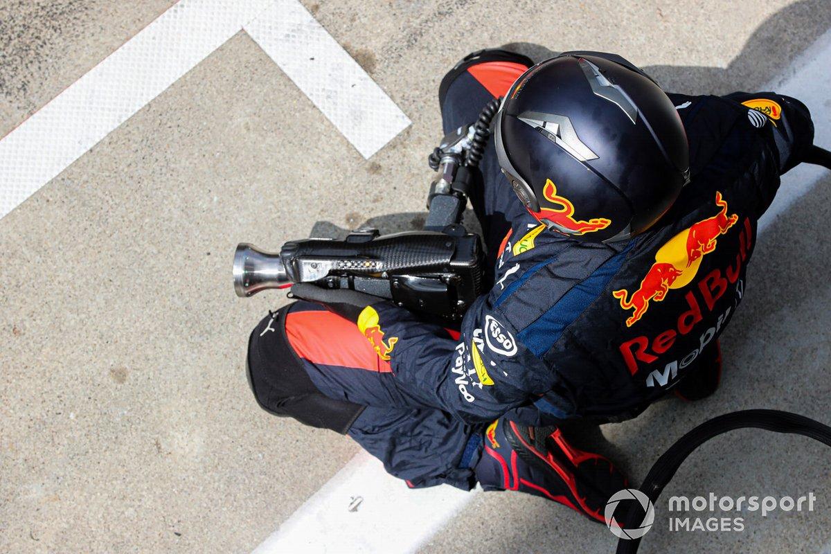 Red Bull pit crew wheel gun operator