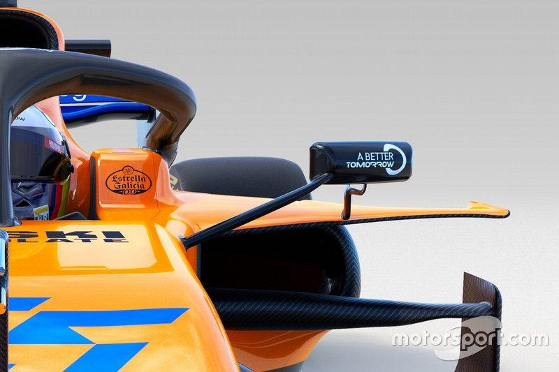 Vue détaillée de la McLaren MCL34