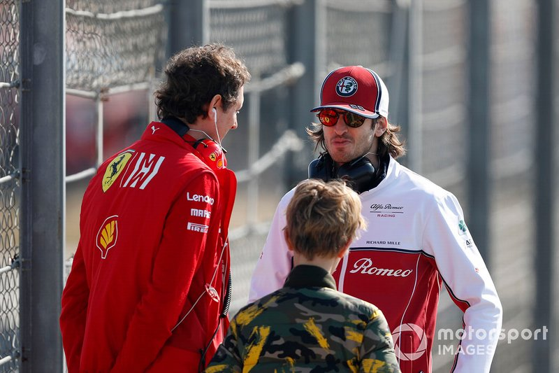 Antonio Giovinazzi, Alfa Romeo Racing and Elkann, FIAT Chairman with his son