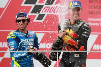 Podio: il vincitore della gara Andrea Dovizioso, Ducati Team, il secondo classificato Alex Rins, Team Suzuki MotoGP, il terzo classificato Pol Espargaro, Red Bull KTM Factory Racing