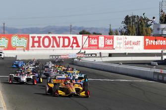 Ryan Hunter-Reay, Andretti Autosport Honda mène au départ