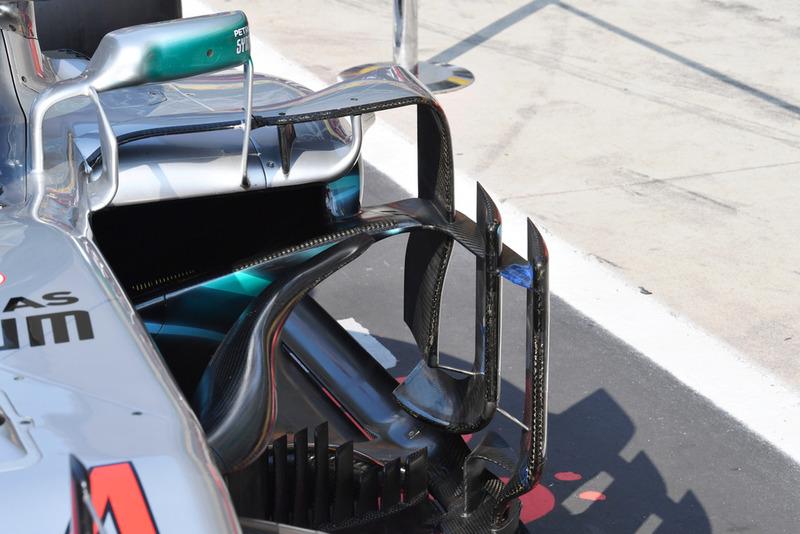 Mercedes AMG F1 W09 barge board detay
